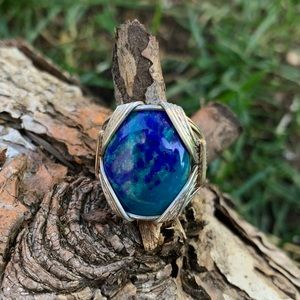 WIRE-WRAPPED CHRYSOCOLLA RING